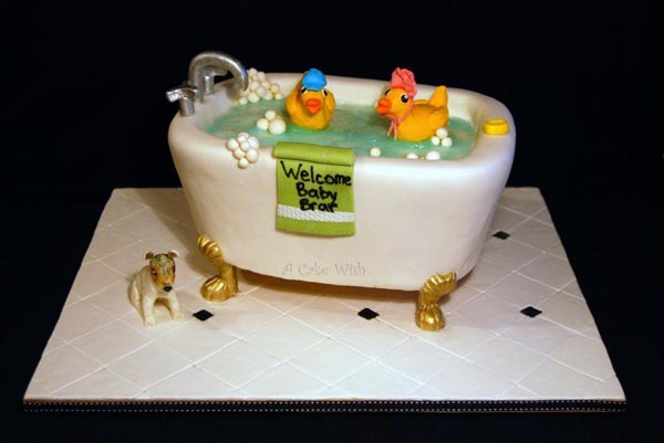 Bathtub cake by Bluprint member Googlegirl