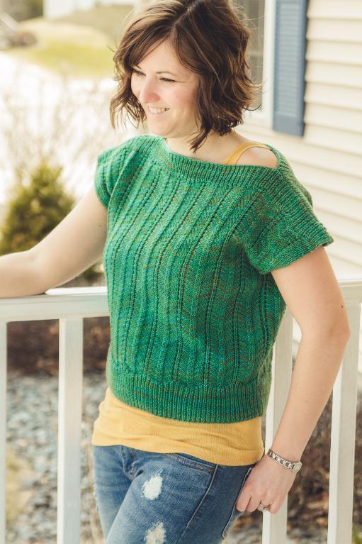 Dolman sleeve knit sweater