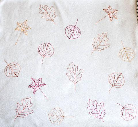 Fall Leaves Embroidery Pattern
