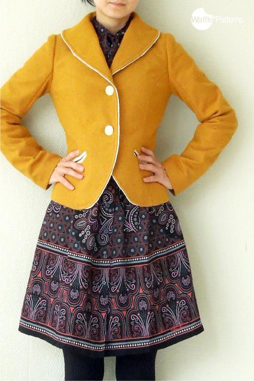 Luffa Shawl Collar Jacket sewing pattern