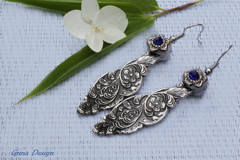 Making beautiful earrings out of old spoons!