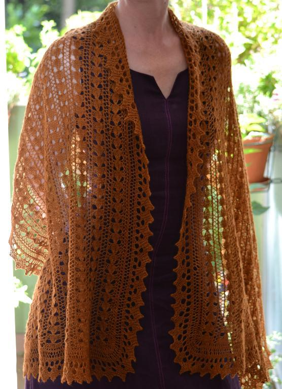 Lace Honey Melon Shawl on Bluprint!
