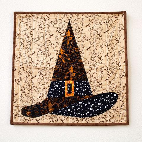 Halloween Witch Hat Paper Piecing