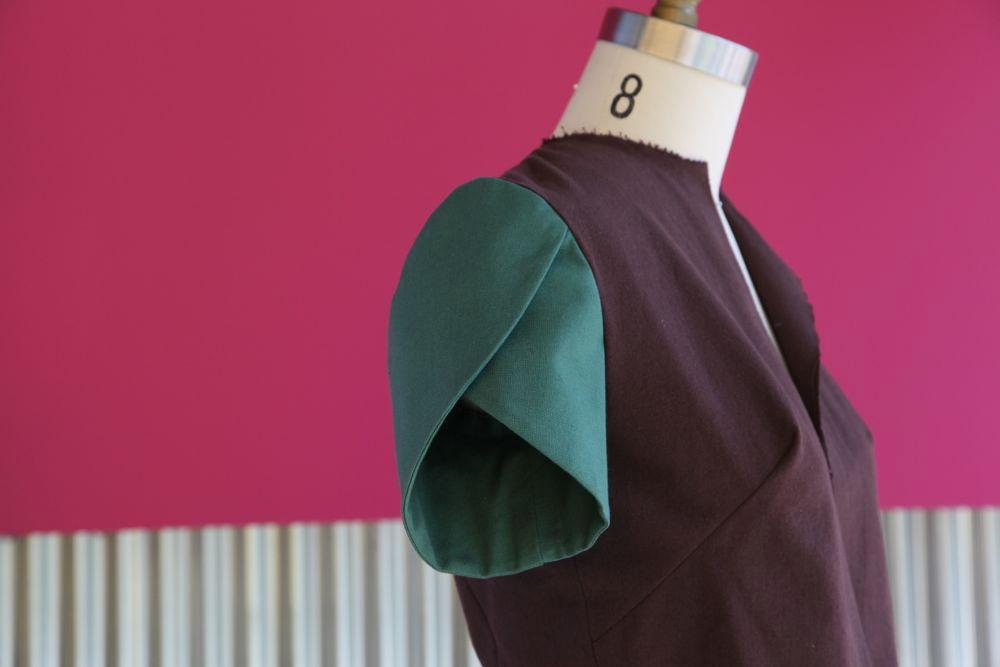 Petal Sleeve in sewing