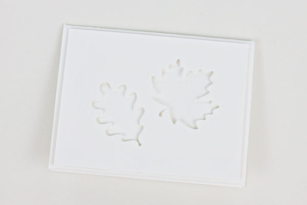 Card With Die Cut Leaves