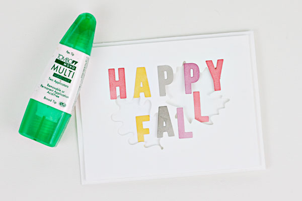 "DIY ""Happy Fall"" Card, Step 5"