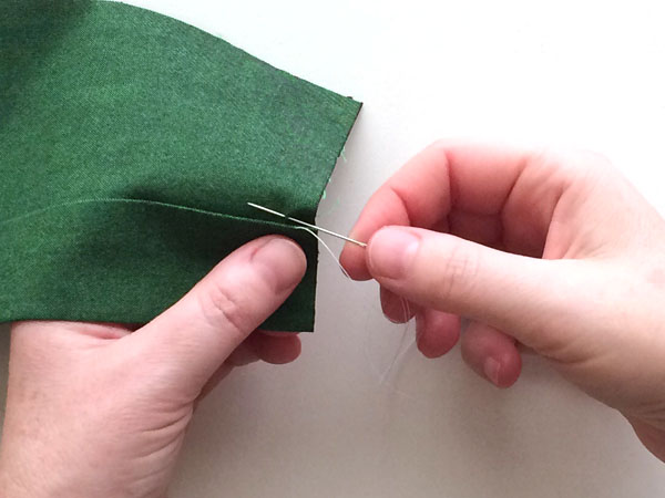 hemming stitch step 2