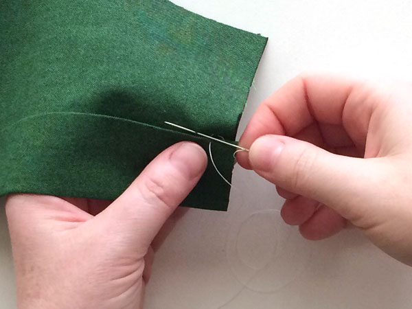 hemming stitch step 6