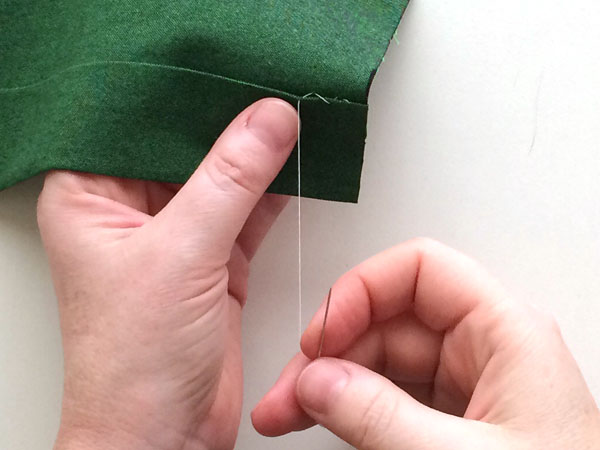 hemming stitch step 7