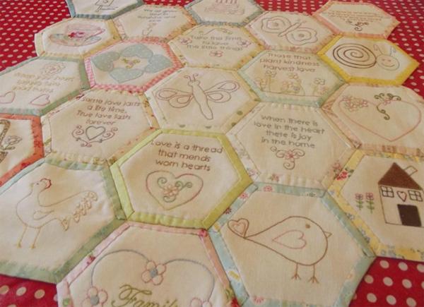 framed hexagon pattern