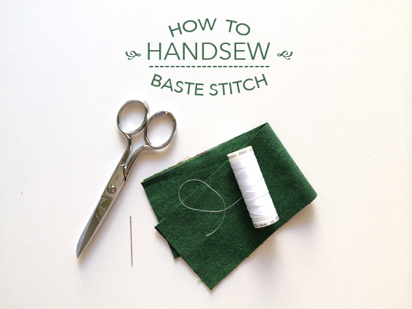 how to handsew a baste stitch on Craftsy!