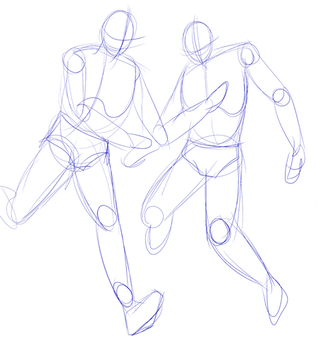 Outline drawings / guidelines for drawing