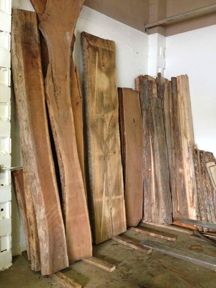 Lumber with live edge