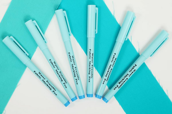 Water erasable fabric marking pens