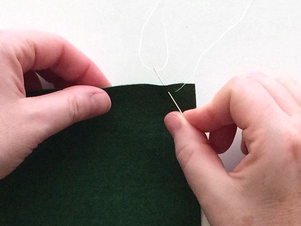 overcast stitch step 2