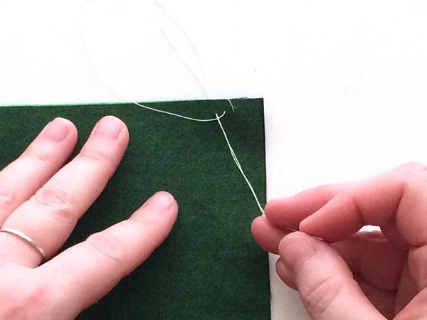 overcast stitch step 4