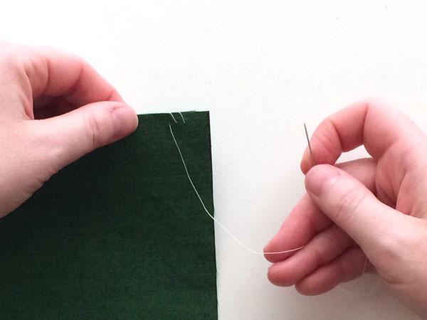 overcast stitch step 5