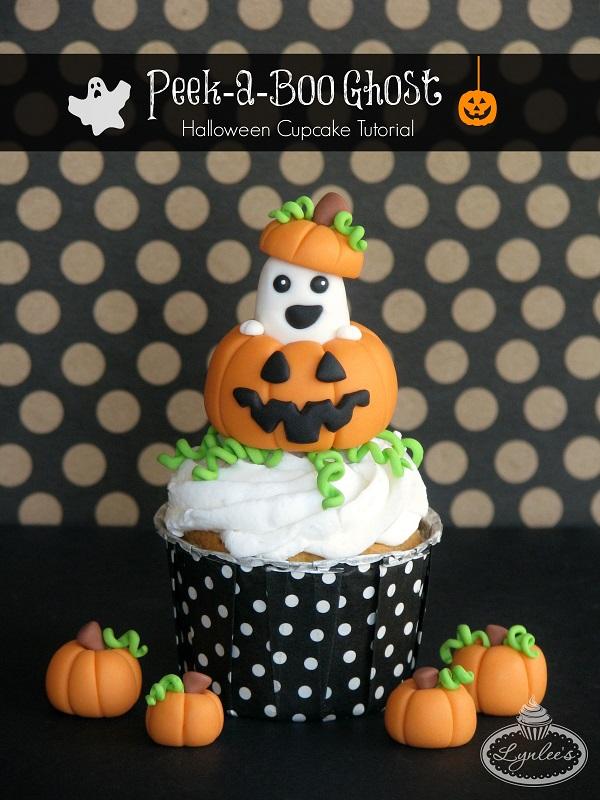 Peek-a-Boo Ghost cupcake tutorial