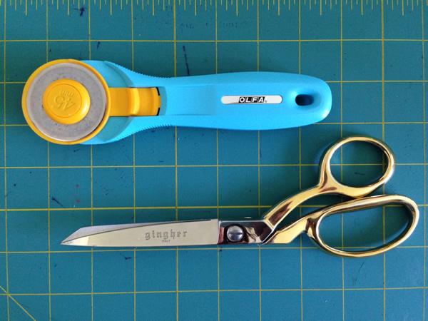 Rotary cutter + sewing scissors