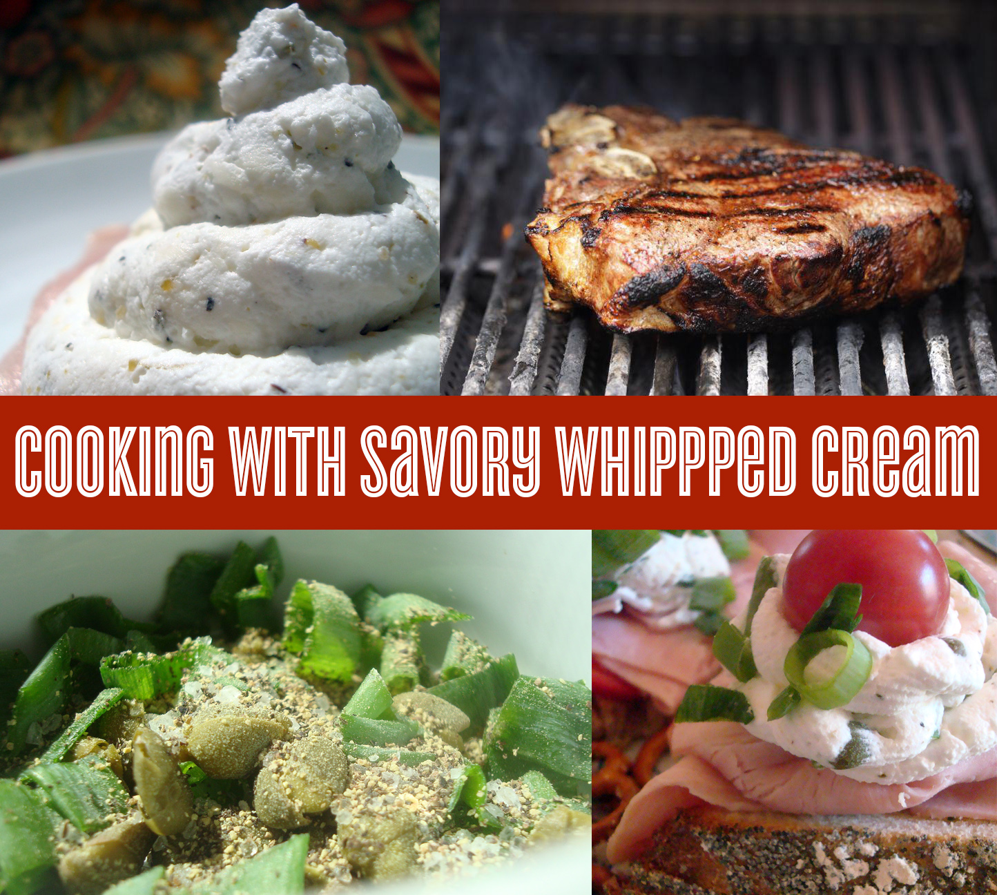 How to cook with savory whipped cream