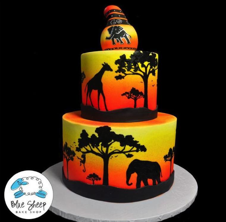 Amazing African safari cake design on Bluprint!