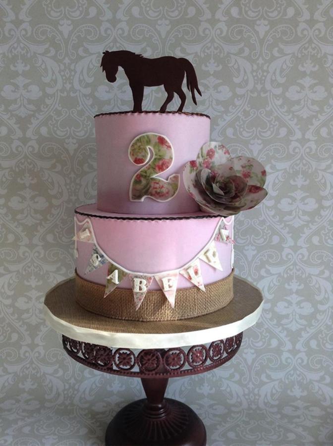 Adorable 2nd Birthday Cake Design