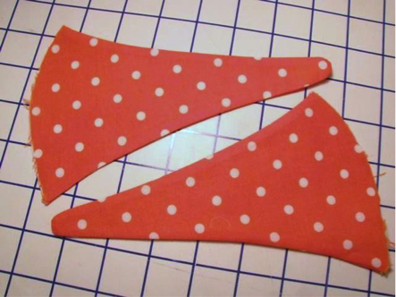 cutting flip flop fabric