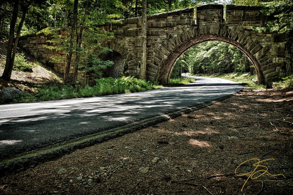 Stone arch bridge, Acadia National Park