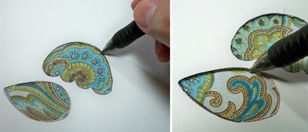 Cutting the stitch line