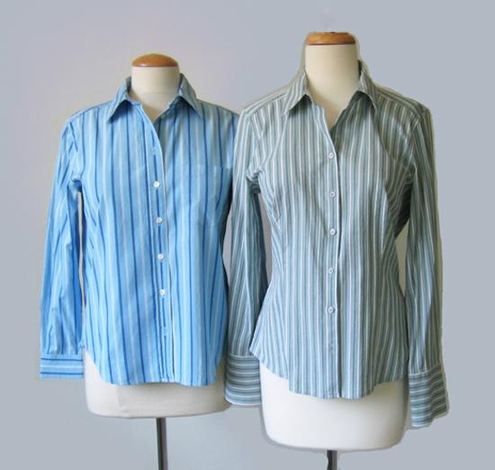 two striped shirts