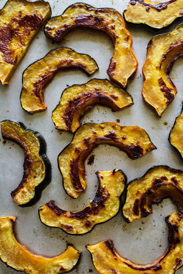 Sliced and Roasted Acorn Squash