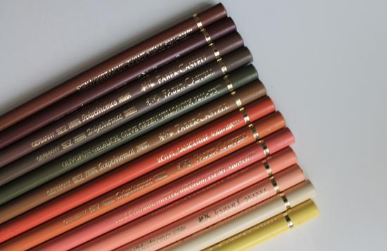 Skin tone colored pencils