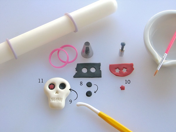 Day of the Dead fondant tutorial step 2