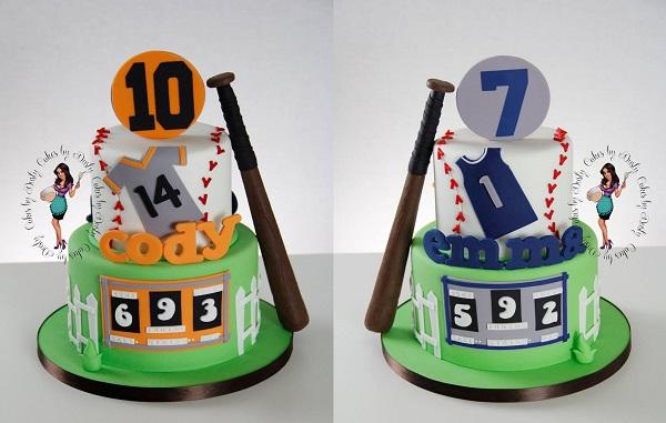 Double-sided Baseball Cake