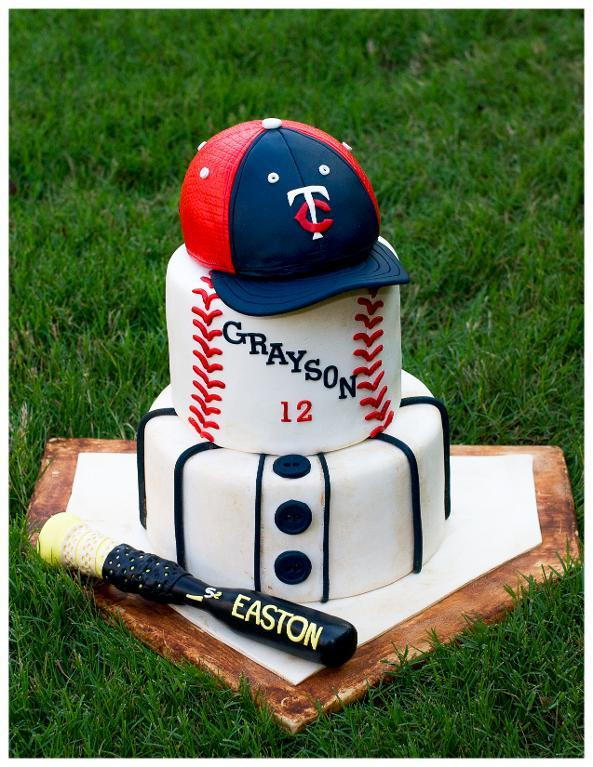 Baseball Plate Cake