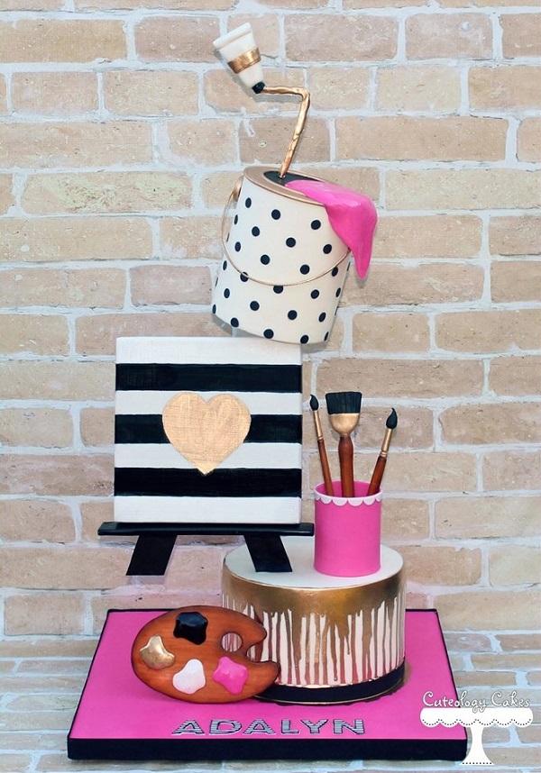 Art-Themed Cake