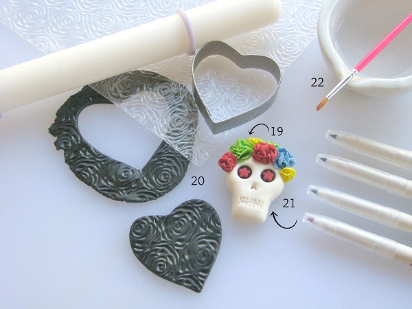 Day of the Dead fondant tutorial step 5