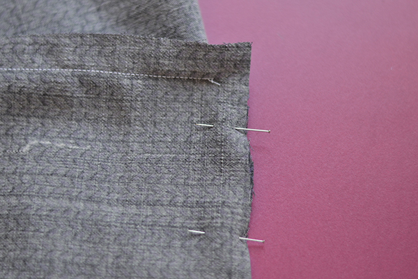 right-angle seam: pivot and pin other side