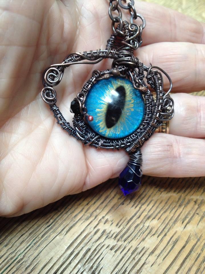 Dragon's Eye pendant by Bernice Craft