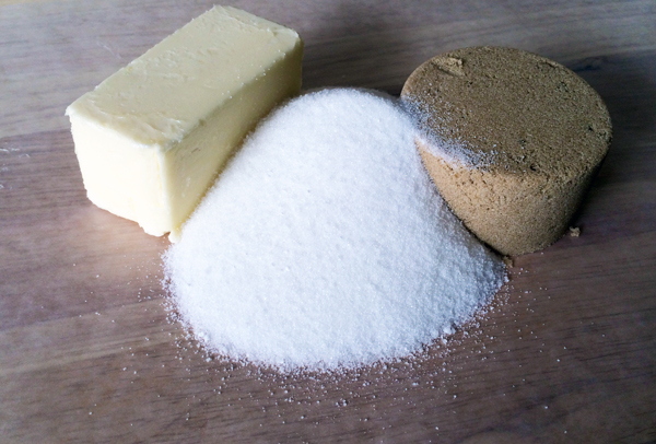flour and sugars