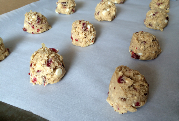 Cranberry Ginger Cookie portions