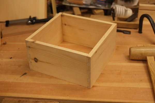 Outside of dovetailed box