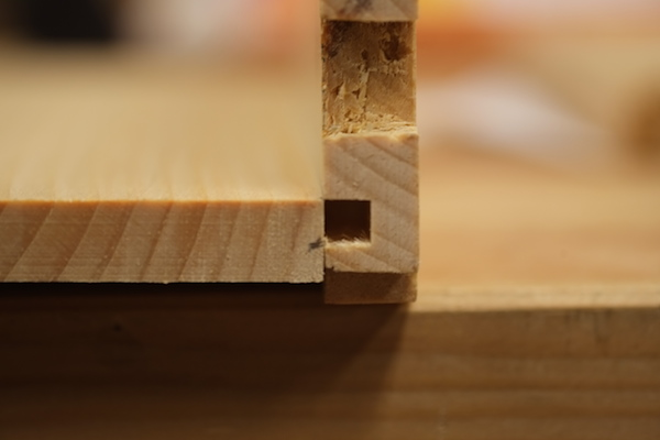 Marking the bottom board thickness