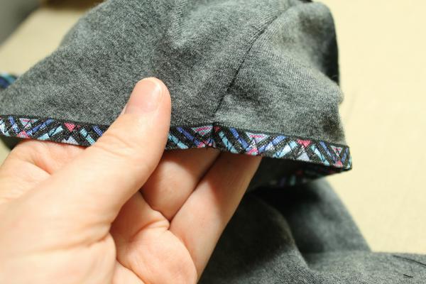 encasing fold over elastic in seam