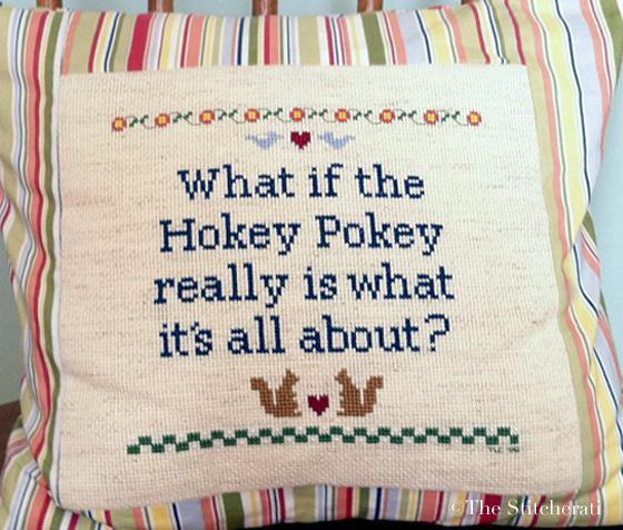 Hokey Pokey Cross Stitch Sampler