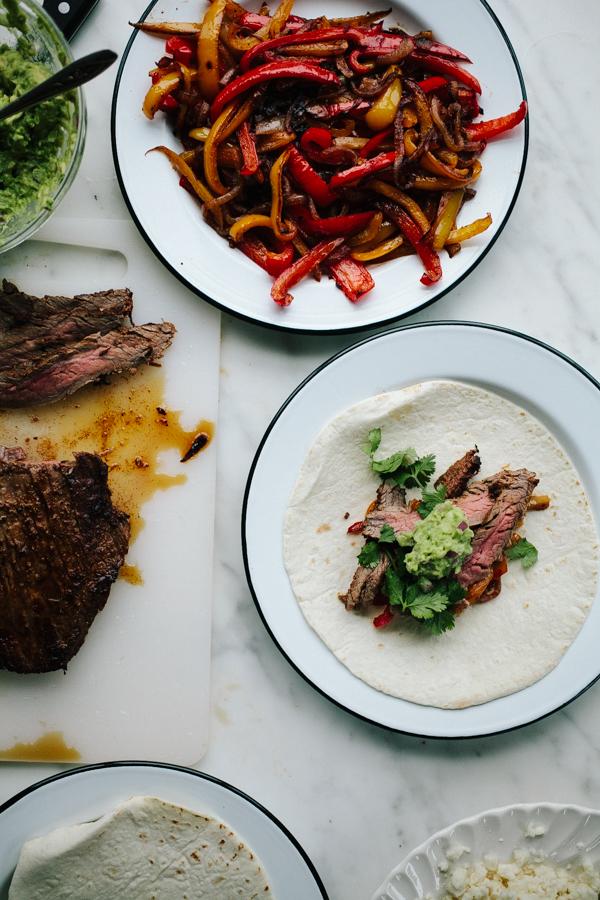 Making Steak Fajitas