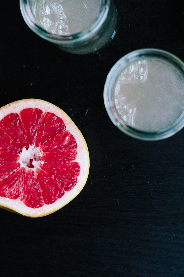 Delicious ruby red grapefruit