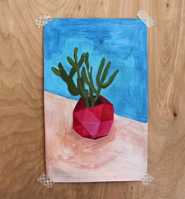 acrylic base painting
