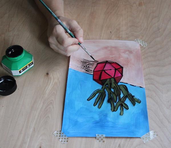 painting on acetate
