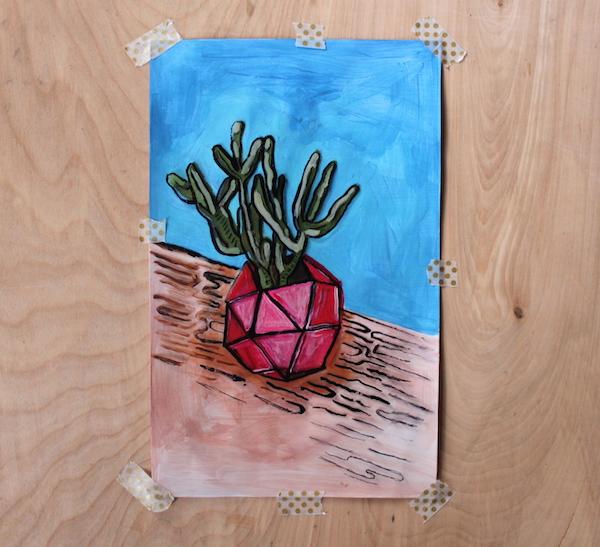 acetate - acrylic painting -